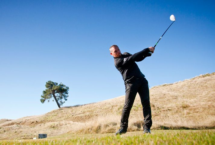 Kinloch Club Golf Course Tom Long Director of Golf playing Tee shot